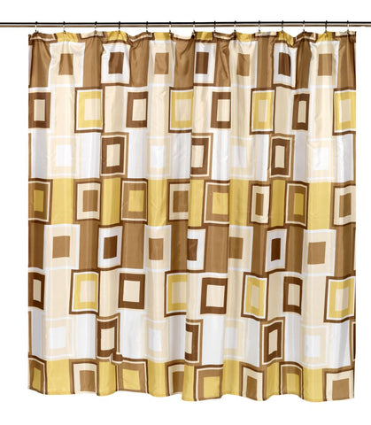 "Contempo 108""x72"" Water Resistant Fabric Shower Curtain"