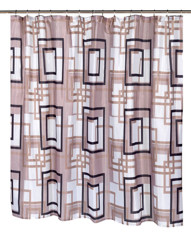 "Intertwined Squares 108""x72"" Water Resistant Fabric Shower Curtain"