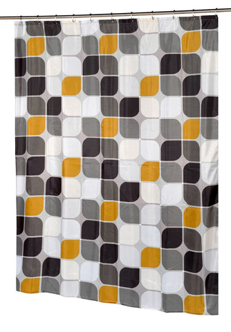 "Metro Extra Long 70""x84"" Fabric Shower Curtain"