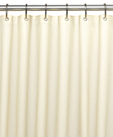 Ivory 10-Gauge PEVA Shower Curtain Liner with Metal Grommets