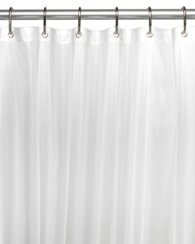 Frosty Clear Standard Size 10-Gauge PEVA Shower Curtain Liner with Metal Grommets