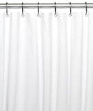 White Standard Size 10-Gauge PEVA Shower Curtain Liner with Metal Grommets
