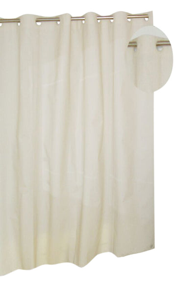 Neutral Ivory Ez On Peva Shower Curtain With Built In Hooks