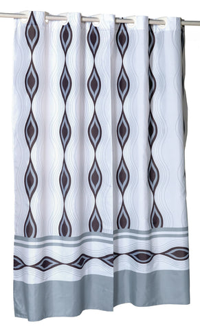 "Harlequin Extra Wide 108""x72"" EZ On Fabric Shower Curtain with Built-In Hooks"