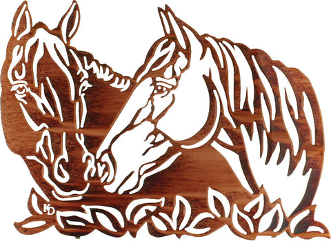 Horses Sharing Secrets Metal Wall Art – tntCommodities.com