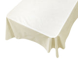 Ivory Vinyl Tablecloth with Flannel Backing in 3 Sizes