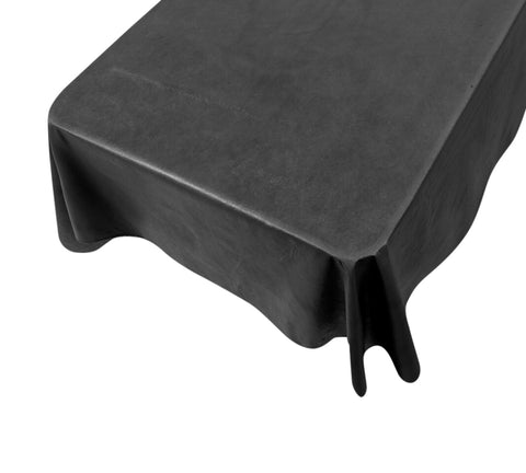 Black Vinyl Tablecloth with Flannel Backing in 3 Sizes