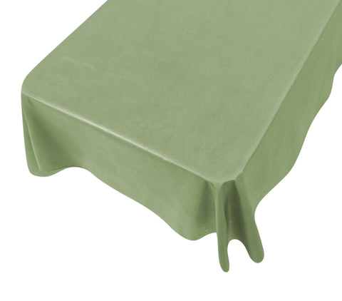 Sage Vinyl Tablecloth with Flannel Backing in 3 Sizes