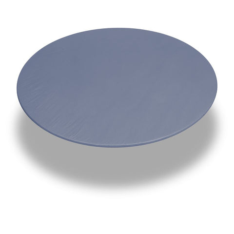 "Slate 48"" Round Vinyl Fitted Tablecloth with Flannel Backing"