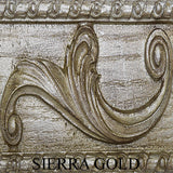 Acanthus Leaf on Cornice and Columns Wall Mirror in 60 Colors