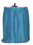 Light Blue Raised Diamond Design Fabric Sink Drape