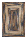 Tiburon Indoor Outdoor Rectangle Braided Rug, TB09 Stone Blue
