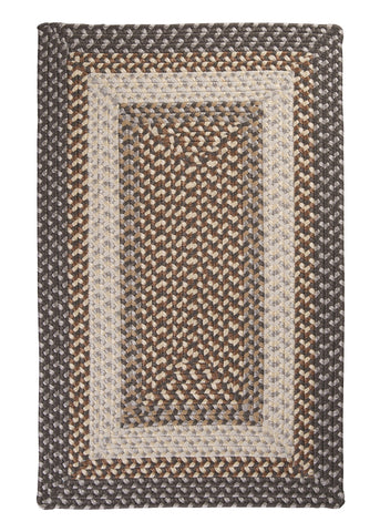Tiburon Indoor Outdoor Rectangle Braided Rug, TB49 Misted Gray