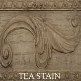 Acanthus Leaf with Scrolled Sides Bracket Wall Shelf in 60 Colors