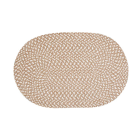 Confetti Oval Braided Rug, TI19 Natural
