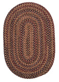 Twilight Oval Braided Rug, TL70 Rosewood