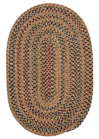 Twilight Oval Braided Rug, TL80 Evergold