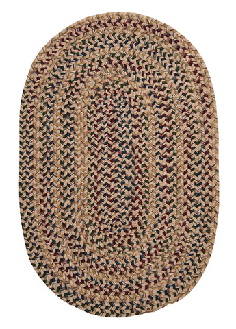 Twilight Oval Braided Rug, TL90 Oatmeal