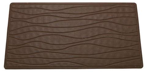 Brown Textured Rubber Bath Tub or Floor Mat in 3 Sizes