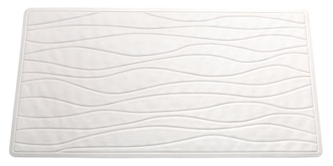 White Textured Rubber Bath Tub or Floor Mat in 3 Sizes