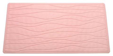 Rose Pink Textured Rubber Bath Tub or Floor Mat in 3 Sizes