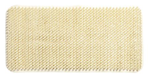 "Ivory Grass Look 14""x26"" Textured PVC Vinyl Bath Tub Mat with Suction Cups"