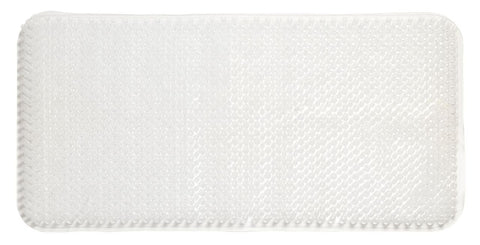 "Clear Grass Look 14""x26"" Textured PVC Vinyl Bath Tub Mat with Suction Cups"