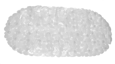 "Super Clear Pebbles Embossed Heavy Vinyl 14""x27"" Bath Tub Mat"