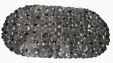 "Black Pebbles Embossed Heavy Vinyl 14""x27"" Bath Tub Mat"