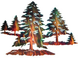 "Multiple Pine Trees Metal Wall Art, 30"" width x 25.5"" height"