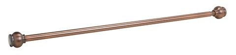 "Dorchester Steel Adjustable Tension Rod 41"" to 72"" in Oil Rubbed Bronze Color Finish"