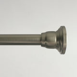 "Stafford Steel Adjustable Tension Rod 41"" to 72"" in Brushed Nickel Color Finish"