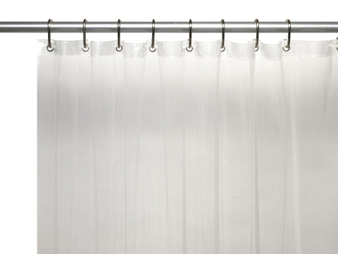 Super Clear 3-Gauge Vinyl Shower Curtain Liner with Metal Grommets and Magnets