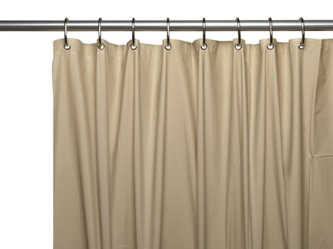 Linen 3-Gauge Vinyl Shower Curtain Liner with Metal Grommets and Magnets