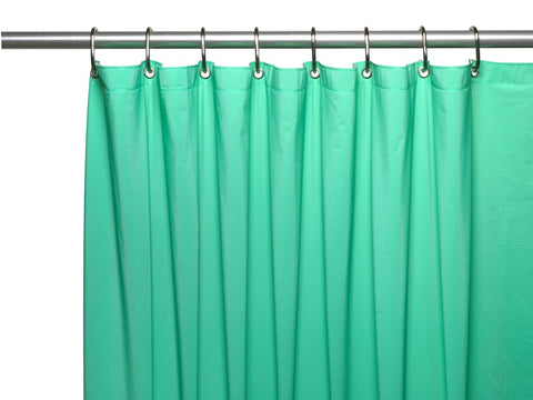 Jade 8-Gauge Extra Heavy Vinyl Shower Curtain Liner with Metal Grommets and Magnets