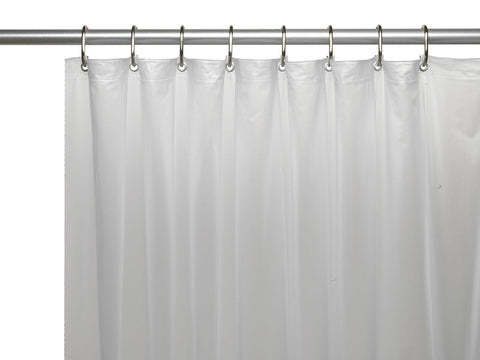 Frosty Clear 8-Gauge Extra Heavy Vinyl Shower Curtain Liner with Metal Grommets and Magnets
