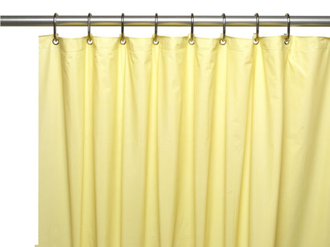 Yellow 8-Gauge Extra Heavy Vinyl Shower Curtain Liner with Metal Grommets and Magnets