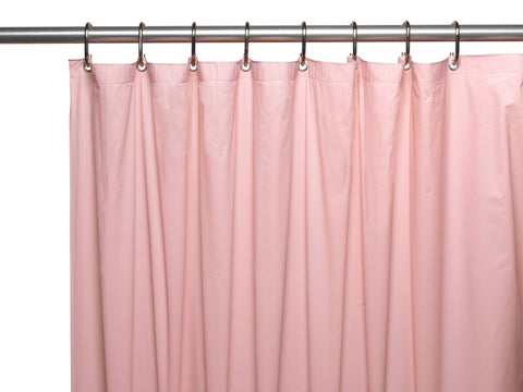 Pink 8-Gauge Extra Heavy Vinyl Shower Curtain Liner with Metal Grommets and Magnets