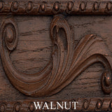 Scrolled Leaf and Floral Plaque-Style Wall Decor in 60 Colors