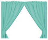 Jade 5-Gauge Vinyl Window Curtain Panels with Tie-Backs