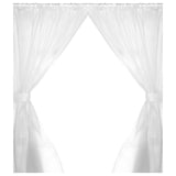Frosty Clear 5-Gauge Vinyl Window Curtain Panels with Tie-Backs