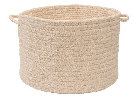 Bristol Round Braided Basket, WL00 Natural