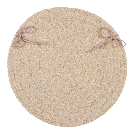 Bristol Round Braided Chair Pad, WL00 Natural