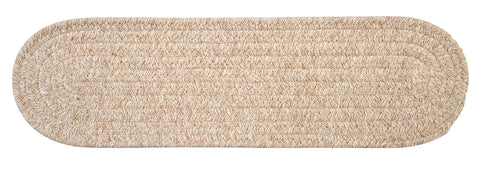 Bristol Oval Braided Stair Tread, WL00 Natural