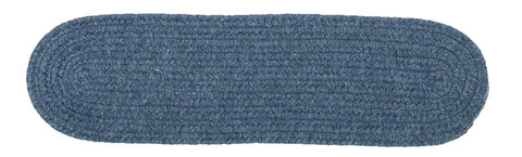 Bristol Oval Braided Stair Tread, WL01 Federal Blue