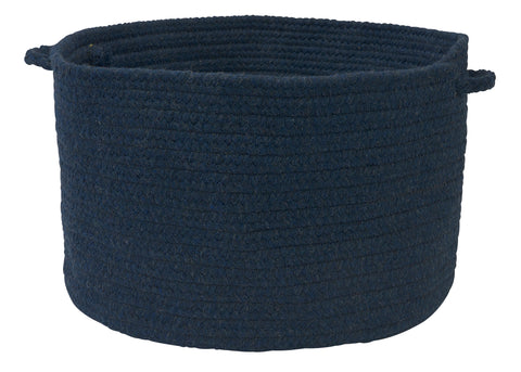 Bristol Round Braided Basket, WL03 Blue Moon