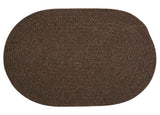 Bristol Oval Braided Rug, WL04 Dark Brown