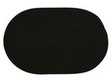 Bristol Oval Braided Rug, WL05 Black