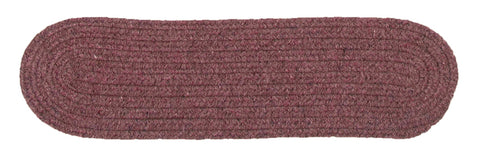 Bristol Oval Braided Stair Tread, WL06 Dark Plum