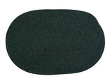 Bristol Oval Braided Rug, WL09 Dark Green